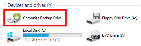 Carbonite Backup Drive Icon