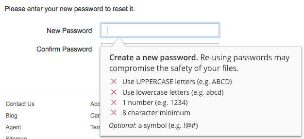 Reset Your Password to Something of Your Choice