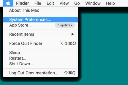 Apple Menu: System Preferences