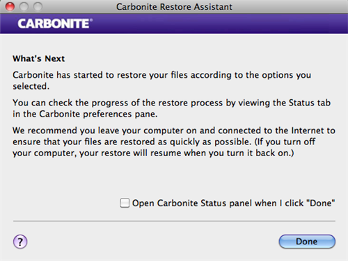 Restore Assistant: What